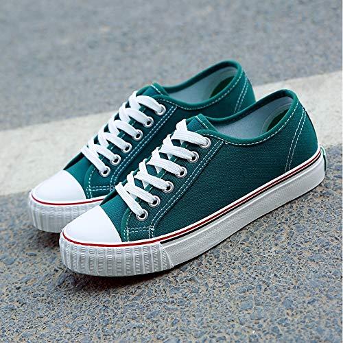 Zapatos Red Mujer Canvas Green Sneakers Heel Flat ZHZNVX Pink Comfort Green Comfort de 6dq1Fzpw