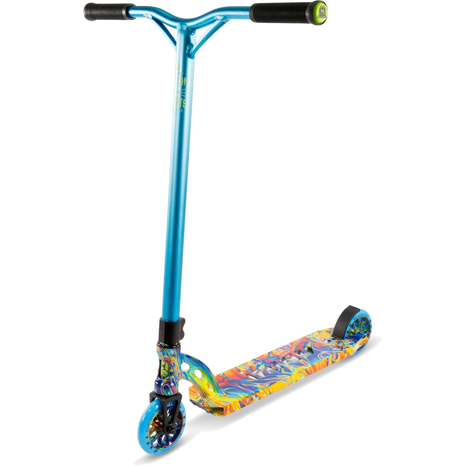 Madd Gear VX7 Extreme Blue / Orange Scooter Complete