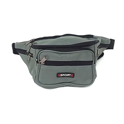 48 UNISEX WAIST FANNY PACK BAGS 6 POCKETS WITH EXPANDABLE STRAP AND SNAP BUCKLE WHOLESALE BULK LOT