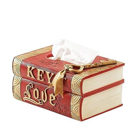 YbzyyqShop Caja de pañuelos en Forma de Libro, Resina, Caja de ...