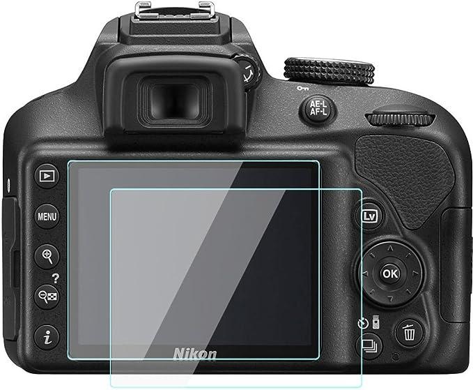 KOMET Nikon D3500 D3400 D3300 D3200 LCD Protector de Pantalla Foils Vidrio Templado Funda para Nikon D3500 D3400 D3300 D3200 Cámara Digital (2 Unidades): Amazon.es: Electrónica
