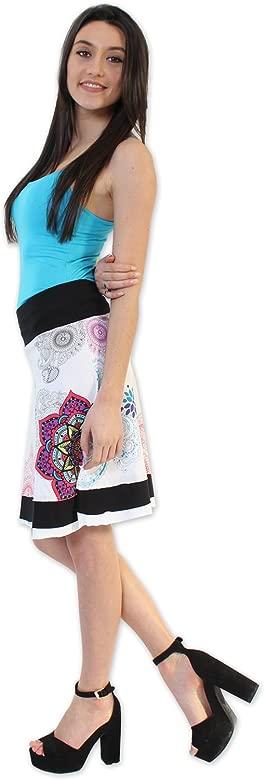 Coton Du Monde-Falda FLAVY, color blanco multicolor 40: Amazon.es ...