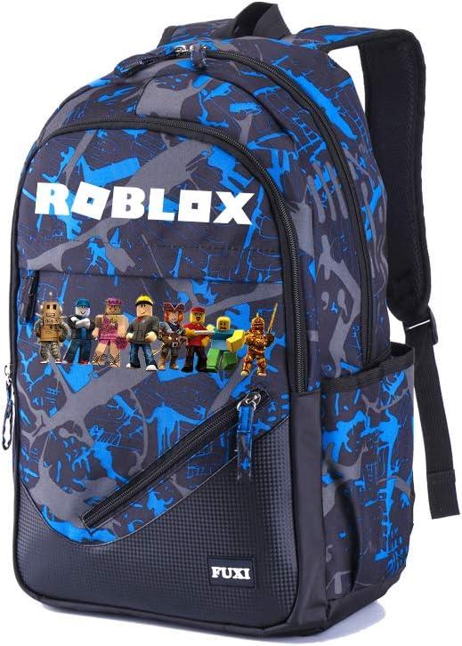 Roblox Sacs /à Dos Loisir Sac /à Dos /école Sac /à Dos imprim/é Sport Sac /à Dos Sac de Voyage Sac /à Dos Loisirs Unisexe Color : Blue01, Size : 32 X 18 X 48cm