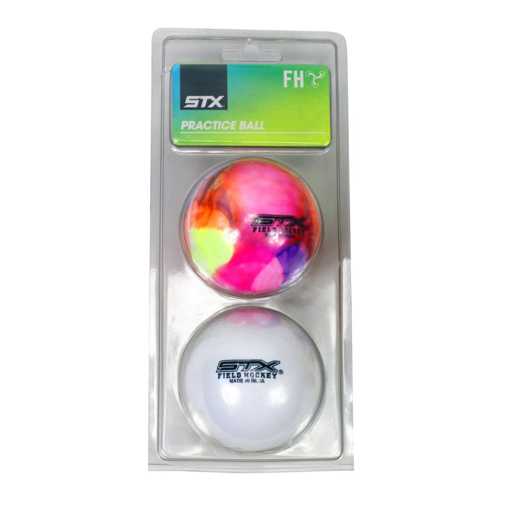 STX Field Hockey Practise Ball (2 Pack), 白い/Rainbow