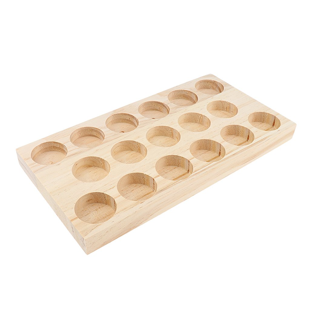 Homyl NATURAL WOOD Perfume Cosmetic Makeup Essential Oil Display Storage Organizer Rack Stand for 17 Pieces 30ml Vials by Homyl (Image #6)
