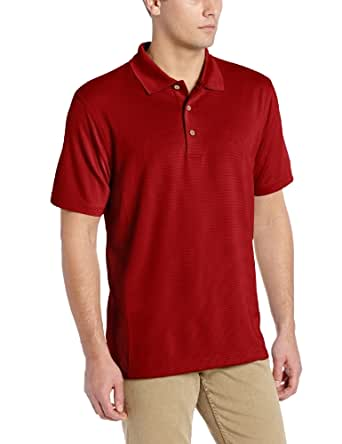 Cubavera Men's Essential Textured Performance Polo Shirt, Biking Red, Small