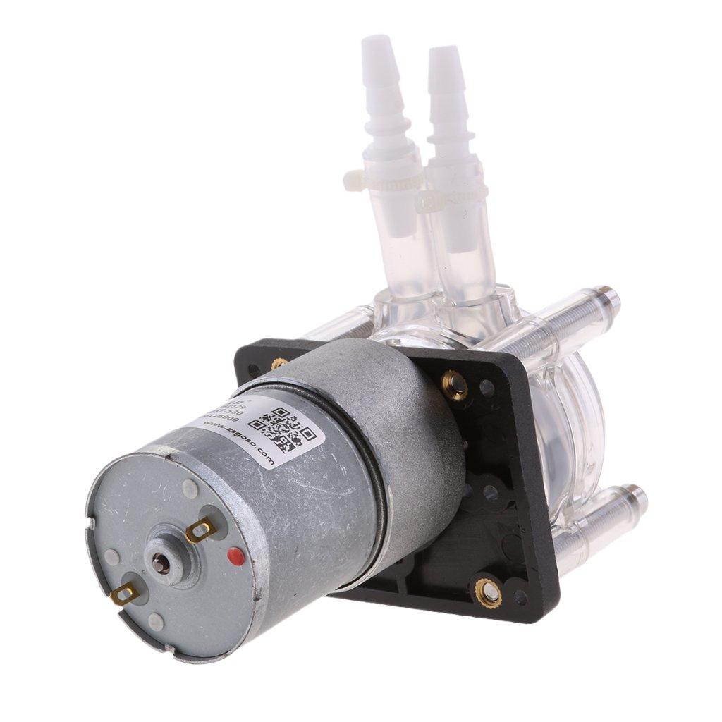 12V DC Testa di Dosaggio per Progetti Analitici di Acquari da Laborato Gazechimp Pompa Dosatrice da 4 Pezzi - Pompa Peristaltica//Pompe per Tubi Flessibili