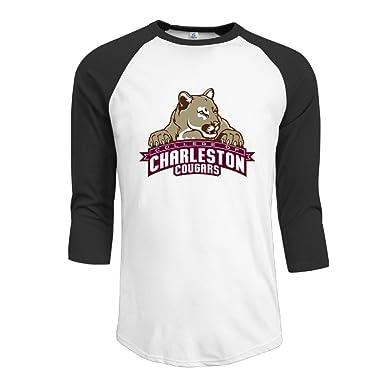 Man S College Of Charleston Mascot 3 4 Sleeve Tee Raglan Sleeve