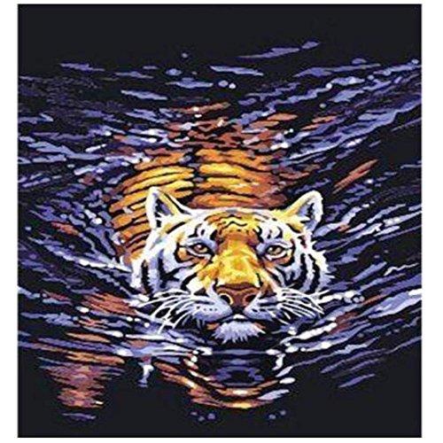 Whitelotous Swimming Tiger 5D Diamond Painting Embroidery DIY Cross Stitch Home Decor 40 x 30cm