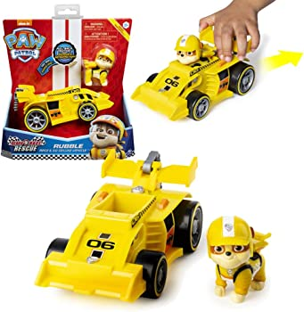 Paw Patrol Rescue Rubble?s Race & Go Deluxe Vehicle with Sounds