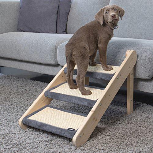 Luna & Leo Escalera 3en1 para Perros y Gatos, 3 Escalones, Gris Oscuro, S: Amazon.es: Productos para mascotas