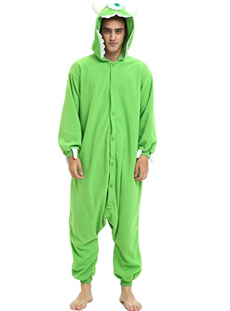 40fdff198002 Es Unico Monster Inc. Sulley Mike Wazowski Onesie Costume for Adult Men and  Women (
