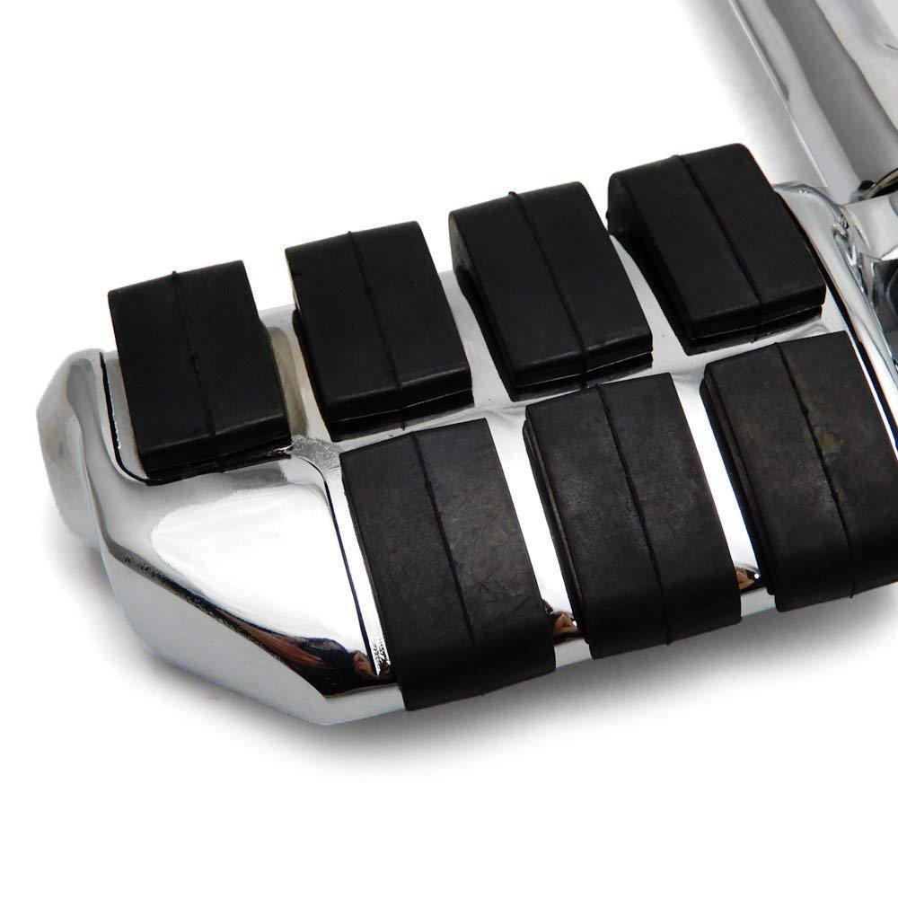 diametro 32mm argento Pedaline moto,accessori moto,Set di poggiapiedi,Pedane poggiapiedi regolabili da 360 gradi in lega alluminio per Harley