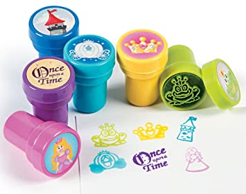 24 Fairytale Self Inking Stampers for Kids - Party Bag Fillers | Kids Crafts