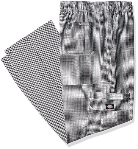 Dickies Chef Men's Big and Tall Baggy Pant, Houndstooth Cargo XXX-Large