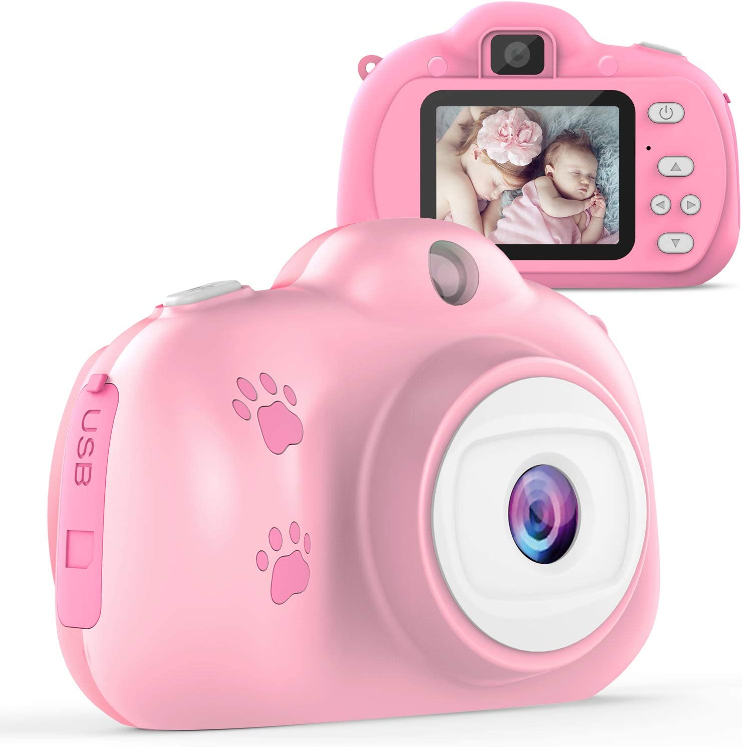 Amazon Com Tecboss Kids Camera Birthday Gifts Toys For 3 10 Year Old Girls Children Digital Cameras For Girls Toys 1280p 8mp With 2 Inch Ips Display Electronics