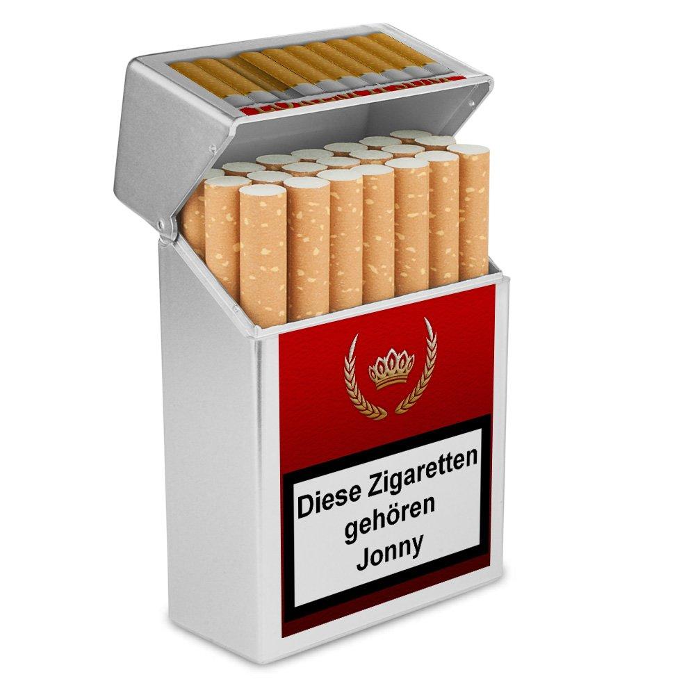 Zigarettenetui Kunststoffbox Zigarettenbox mit Namen Jonny Personalisierte H/ülle mit Design Zigarettenbox Zigarettenschachtel
