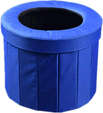 Portable Folding Toilet Urinal Mobile Seat Outdoor Hiking Blue Travel B9J1