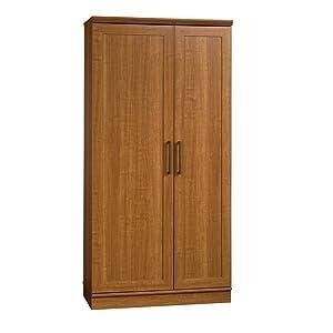 Sauder HomePlus Storage Cabinet, Sienna Oak finish