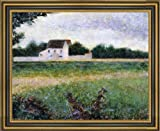 "16.25"" x 20.25"" Georges Seurat Landscape of the Ile de France framed premium canvas print reproduced to meet museum quality standards. Our Museum quality canvas prints are produced using high-precision print technology for a more accurate reproductio..."