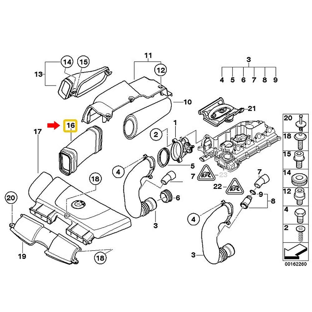 Aramox Air Intake Pipe 13717795284 7795284 Polypropylene Engine Air Intake Hose Pipe Fit for 3 Series E90 318d
