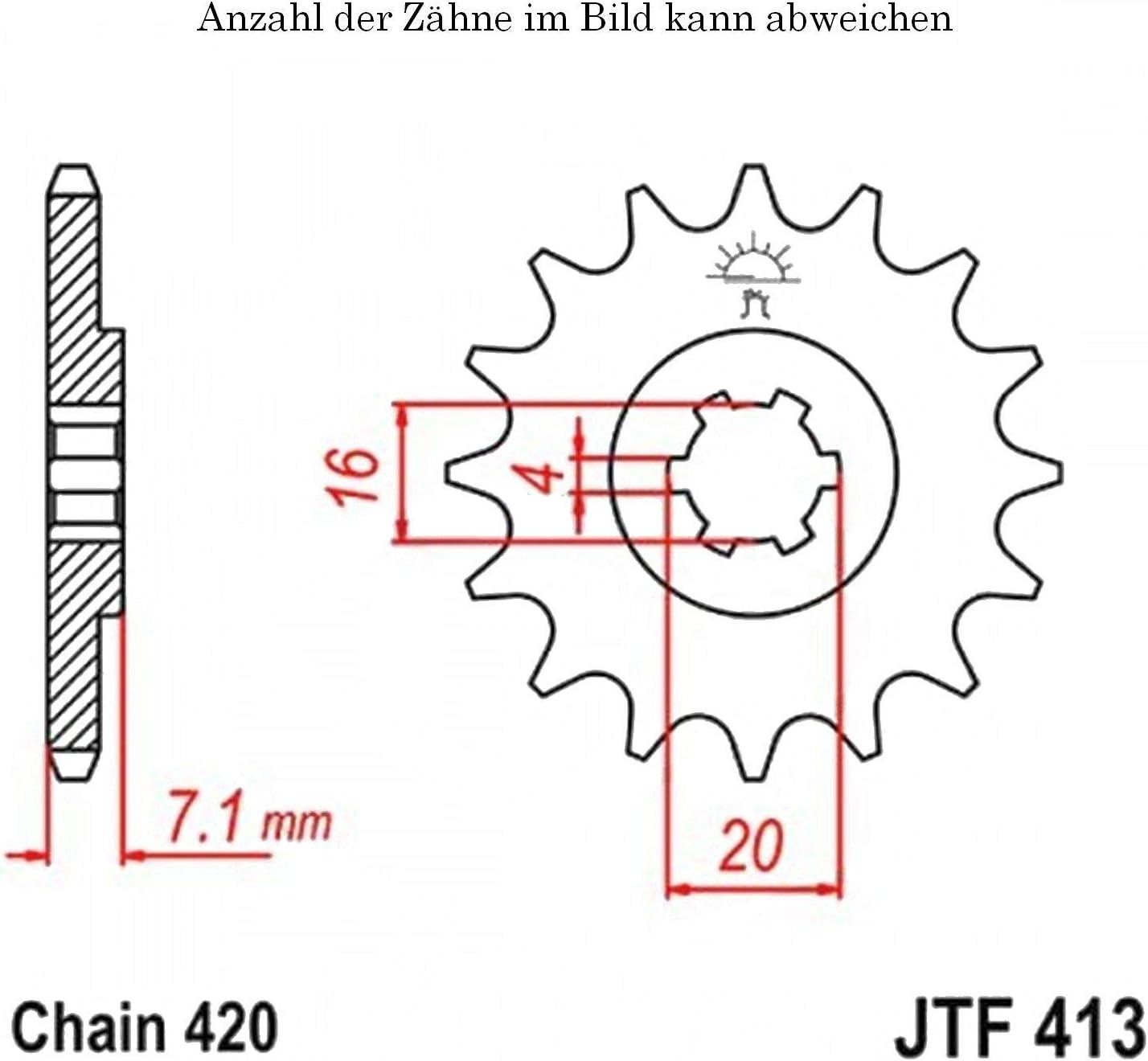 Ritzel 14 Z/ähne f/ür TS 50 XK Baujahr 1991-1997 von jtSprockets