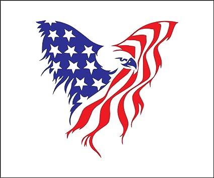 Amazon Com Yetta Quiller American Flag Eagle File Unique Vinyl