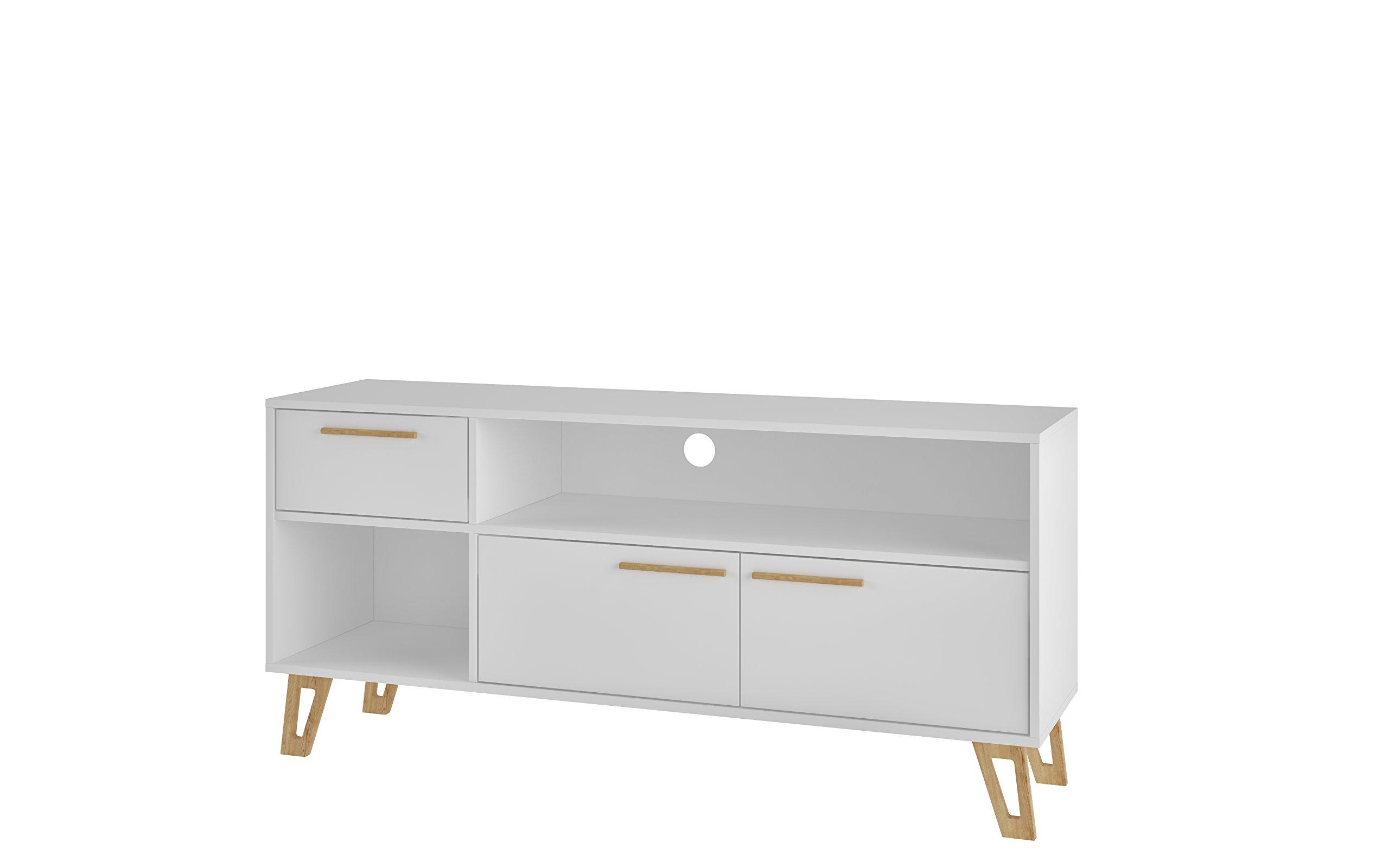 Manhattan Comfort Doris Mid-Century Modern Living Room TV Stand, White by Manhattan Comfort