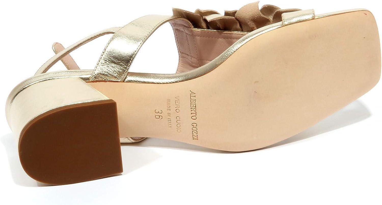 ALBERTO GOZZI F9538 Sandalo Donna Platinum Scarpe Shoe Woman Platino