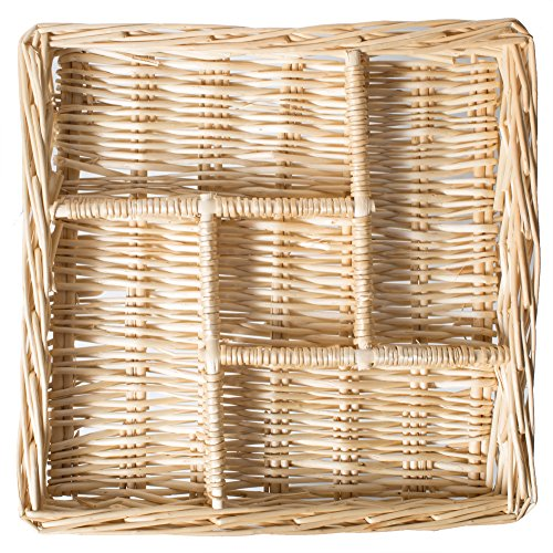 Natural Willow Snack Basket Tray Organizer - 11