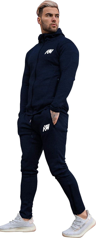 Aspire Wear Tuta da Uomo Tech 2.0 con Cappuccio e Pantaloni da Ginnastica