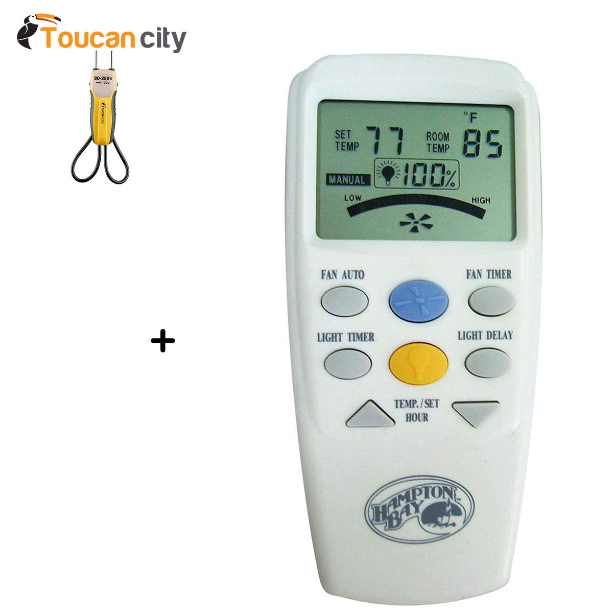 Toucan City Voltage Tester and Hampton Bay LCD Display Thermostatic Remote Control 60001