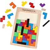 SainSmart Jr. CB-23 di legno Tangram puzzle Tetris Burr puzzle giocattoli, gioco educativo (40 Pezzi)