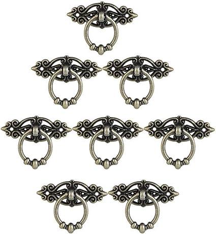 8 pezzi Pomelli ad anello con viti per armadi e cassetti