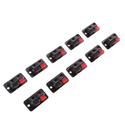 Sharplace Abrazadera de Muelle Terminal Amplificador Audio Música Estéreo Altavoz