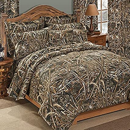 Realtree MAX 5 Camouflage 7 Pc King Comforter Bedding Set Matching Shower Curtain
