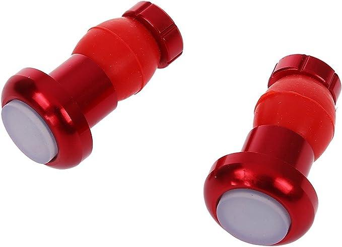 TOOGOO(R) 2X Tapa de extremo de luz de manillar de bicicleta Luz intermitente de clavija de extremo de barra LED manillar: Amazon.es: Deportes y aire libre