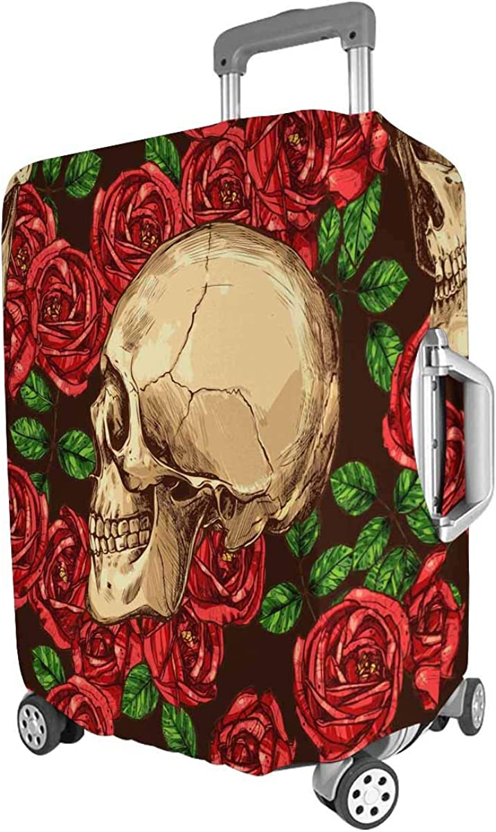 INTERESTPRINT Travel Luggage Cover Suitcase Protector Fit 18-28 Inch Gothic Pattern with Color