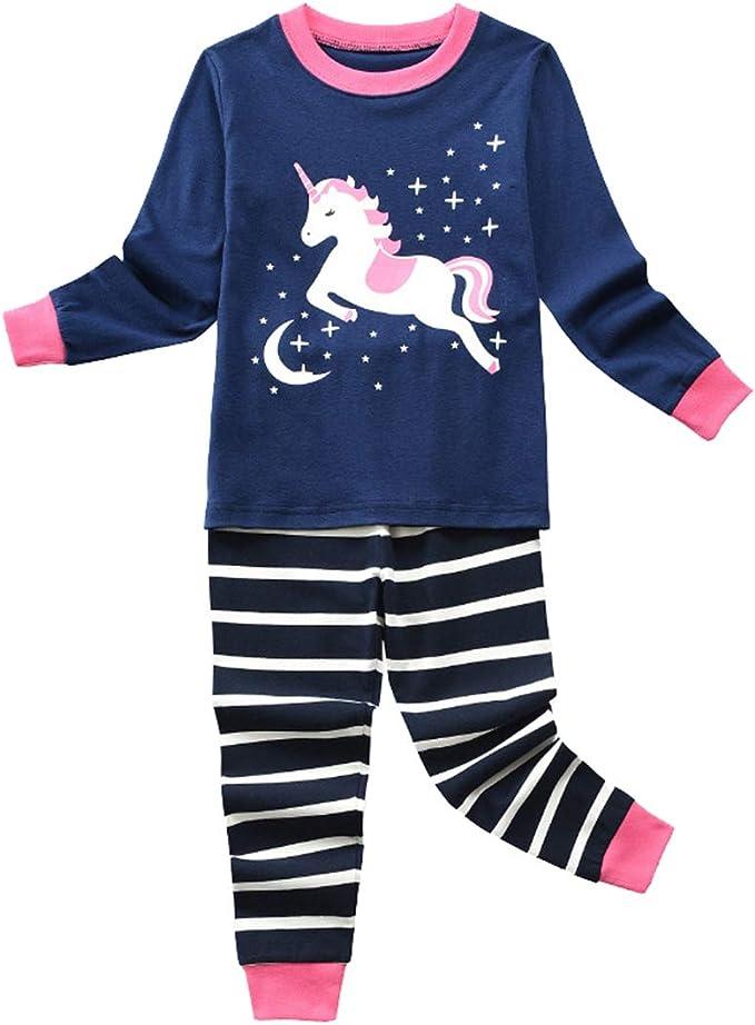 Pijamas Unicornio Niña Algodon Conjunto Pijama Set Dos Piezas Niño ...