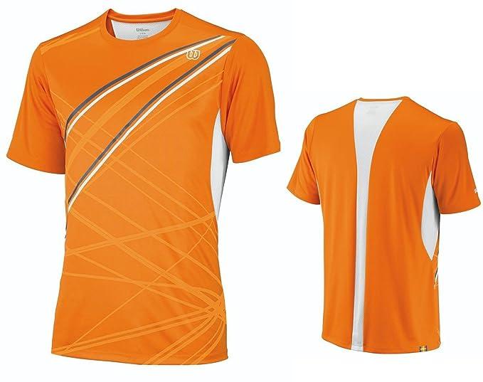 WILSON - Camiseta de pádel para hombre, tamaño XL, color naranja: Amazon.es: Ropa y accesorios
