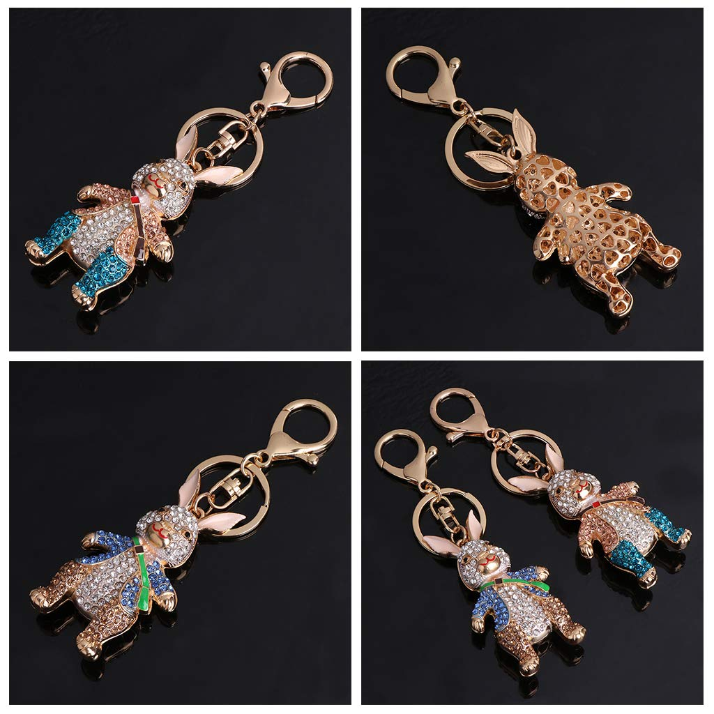 Amazon.com: Dabixx Key Ring Animal Rabbit Rhinestone Key Chain Jewelry Bag  Pendant Gifts Decoration: Home & Kitchen