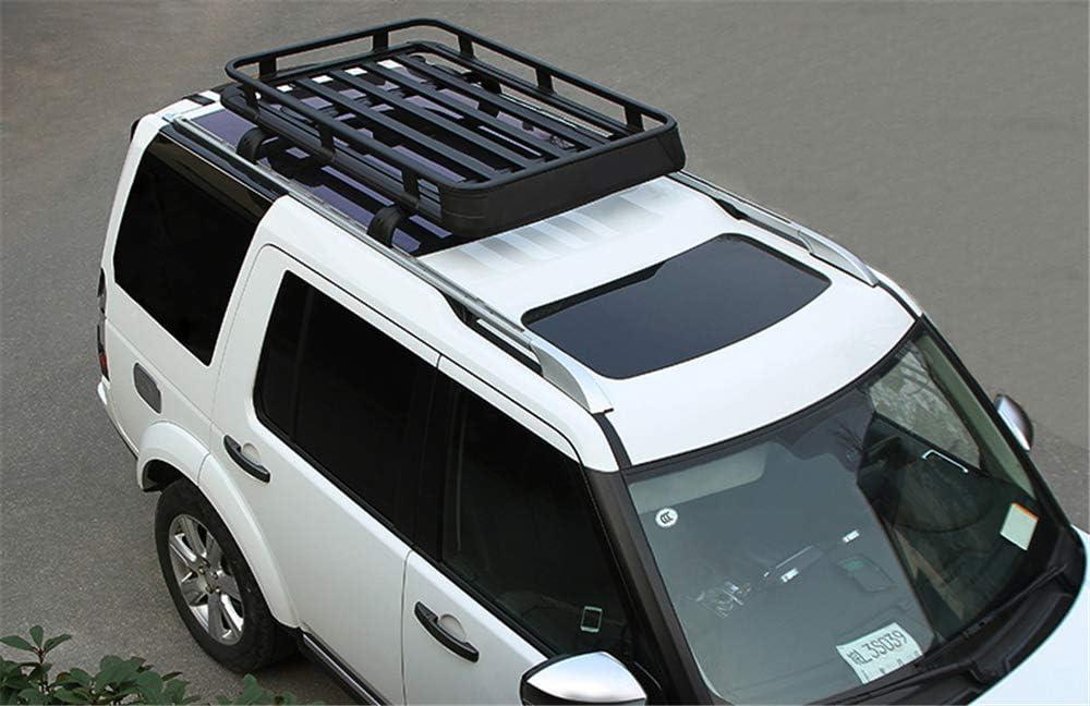 UDP 2Pcs Fit for Land Rover Discovery 3 Discovery 4 LR3 LR4 2003-2016 Aluminium Crossbar Cross Bar Baggage Luggage Racks Roof Racks Rail Bar Black