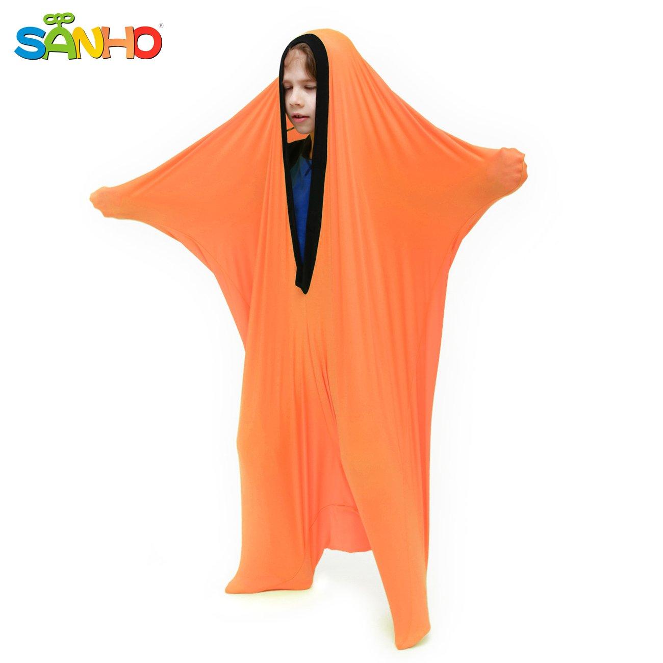 SANHO Dynamic Movement Sensory Sox, X-Large(Height Between 4'8''- 5'8''),Orange
