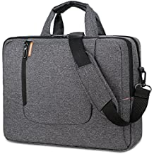 BRINCH 15.6 Inch Laptop Bag Large Capacity Water Resistant Mens / Womens Travel Business Laptop Briefcase Computer Shoulder Bag Messenger Case with Strap for 15 - 15.6 Inch Laptop / Notebook,Dark Grey