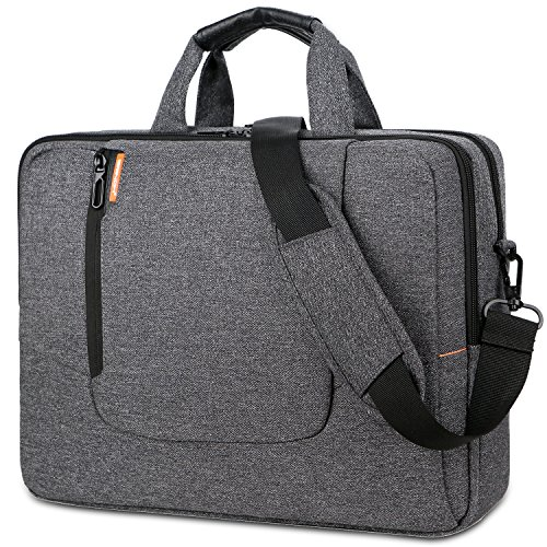 BRINCH 15.6 Inch Laptop Bag Large Capacity Water Resistant Mens / Womens Travel Business Laptop Briefcase Computer Shoulder Bag Messenger Case with Strap for 15 - 15.6 Inch Laptop / - Bag Laptop Notebook