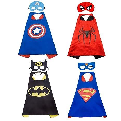 LYTIVAGEN Costumi Supereroe per Bambini 4Pcs Mantelli e 4 Maschere Costumi  di Carnevale Adatto per Compleanno 9eb08d5dd4a