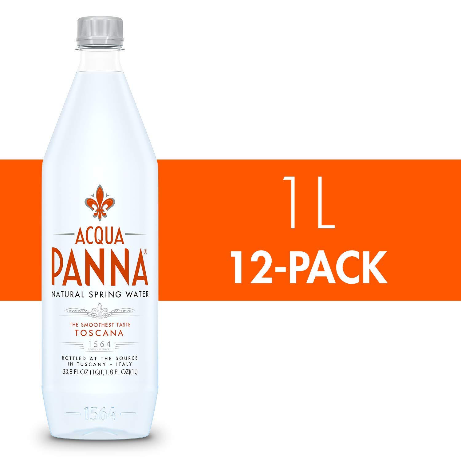 Acqua Panna Natural Spring Water, 33.8 Oz Plastic Bottles (12 Pack), 33.8 Fl Oz (12 Count)