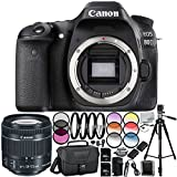 Canon EOS 80D DSLR Camera - International Version (No Warranty) w/Canon EF-S 18-55mm f/3.5-5.6 is STM Lens 64GB Bundle 35PC Accessory Kit Which Includes 3 Piece Filter Kit (UV-CPL-FLD), More