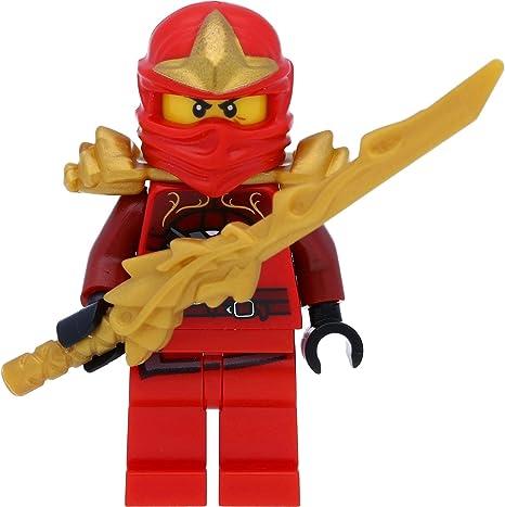 LEGO Ninjago KAI Minifigure Red Ninja With Swords Minifig Figure throwing star