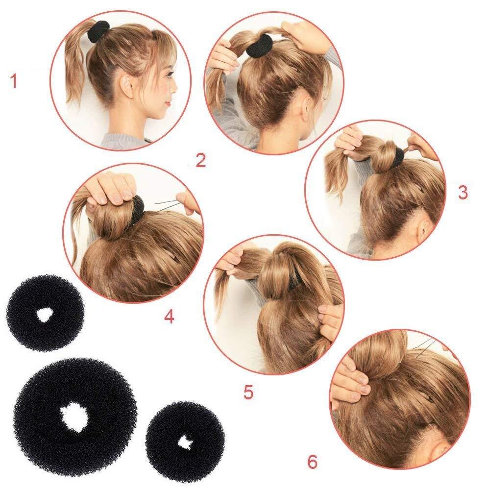 DELOVE- Hair Styling Set, Fashion Hair Design Styling Tools Accessories DIY Hair Accessories Hair Modelling Tool Kit Hairdress Kit Set Magic Simple Fast Spiral Hair Braid Hair by DELOVE (Image #3)